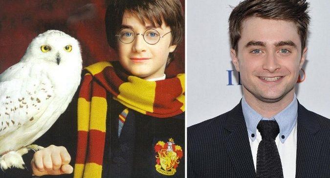 Ngoại hình của Daniel Radcliffe khi đóng Harry Potter và lúc trưởng thành.
