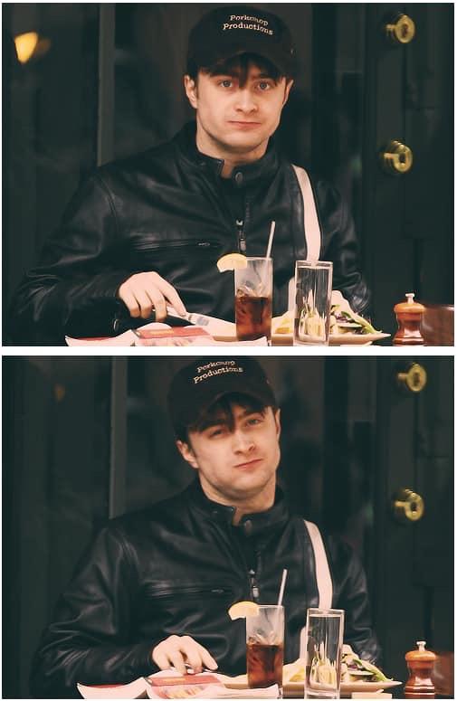 Daniel luôn đội mũ và mặc áo khoác đen để nếu paparazzi chụp được khoảnh khắc cũng không thể sử dụng vì các bức ảnh giống nhau.