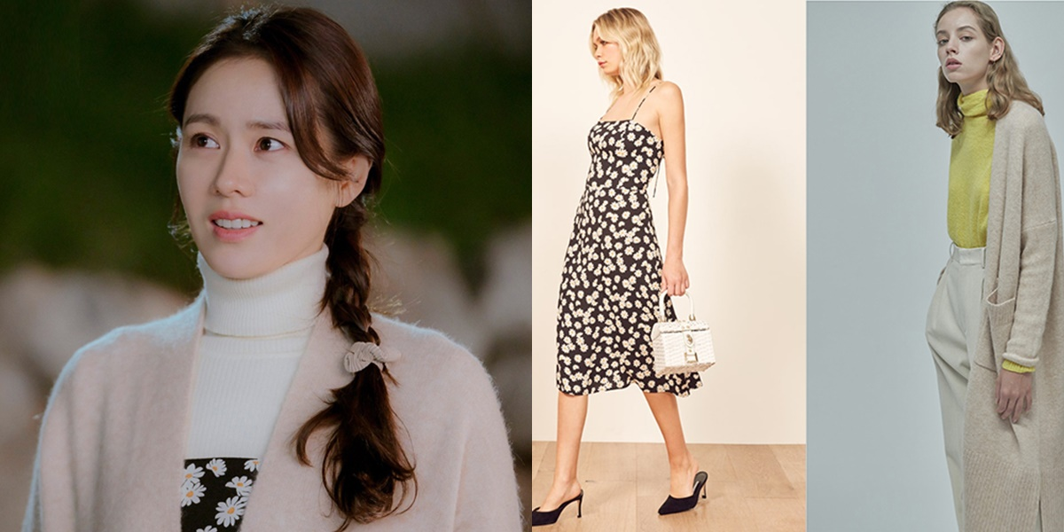Với kiểu tóc tết hệt như thôn nữ, Son Ye Jin diện Váy hoa cổ điển xinh xắn của Reformation, giá 4,5 triệu đồng được nữ diễn viên kết hợp với cardigan Grey Yang, giá hơn 9 triệu đồng.