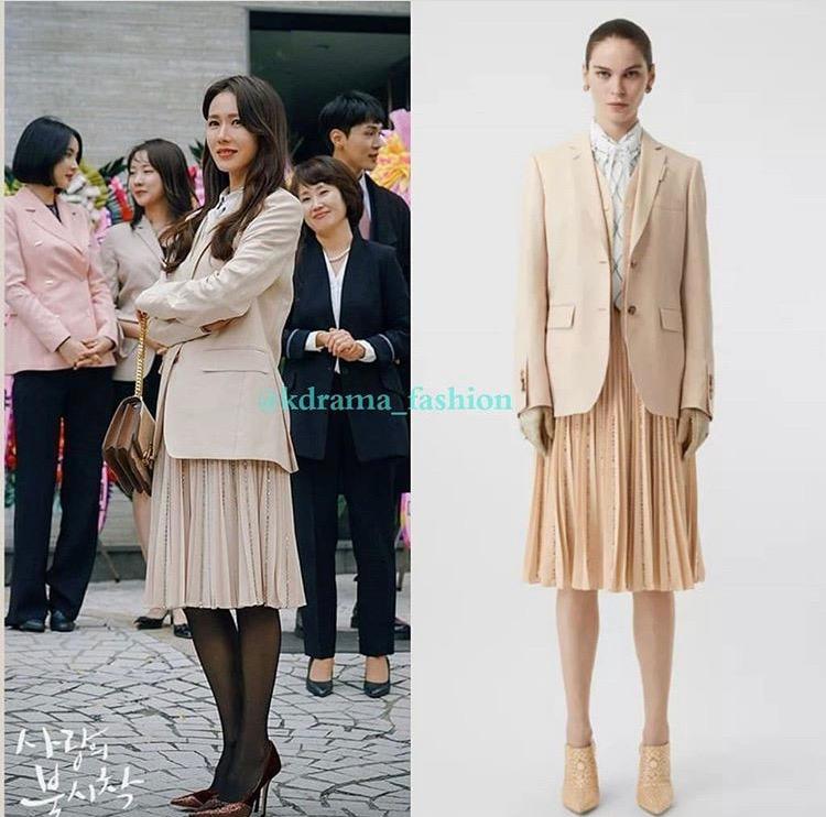 ới hình tượng nữ đại gia, Son Ye Jin gây ấn tượng bằng phong cách sang trọng, diện suit thời thượng, trang điểm trong veo, nữ tính.