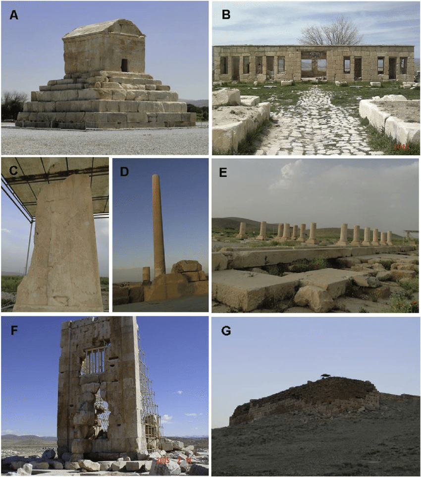 Các góc khác nhau trong Pasargadae