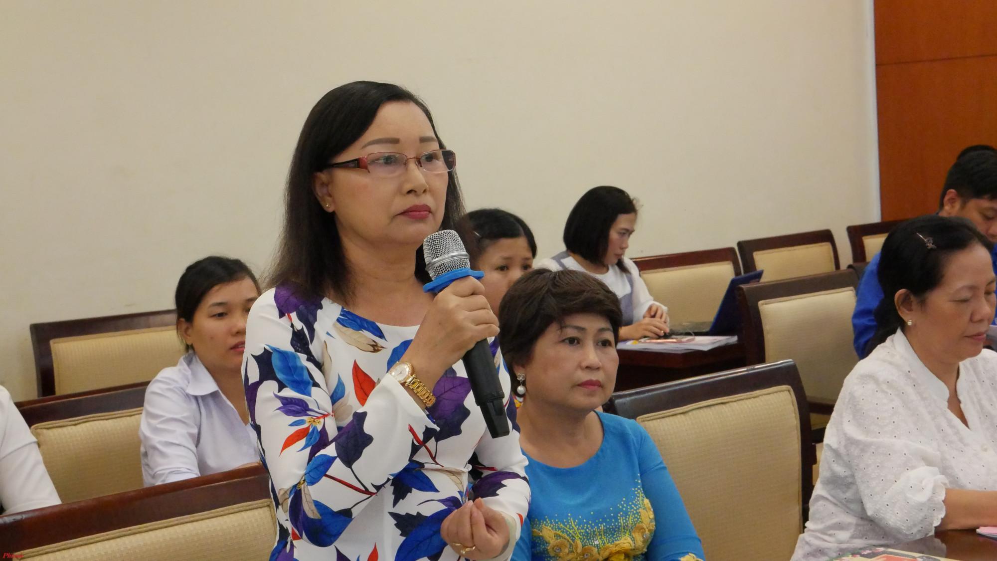 Chị Thủy chia sẻ kinh nghiệm xây dựng gia đình hạnh phúc.