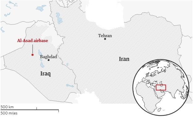 Các căn cứ quân sự có sự hiện diện của Mỹ nằm gần biên giới Iran đang trong tình trạng cảnh giác cao độ.