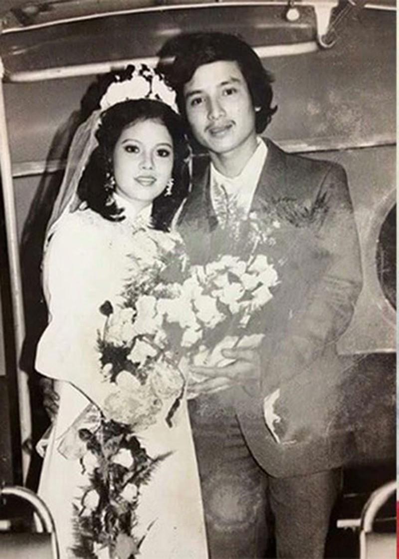 Nghệ sĩ Chí Trung và Ngọc Huyền thời điểm kết hôn.