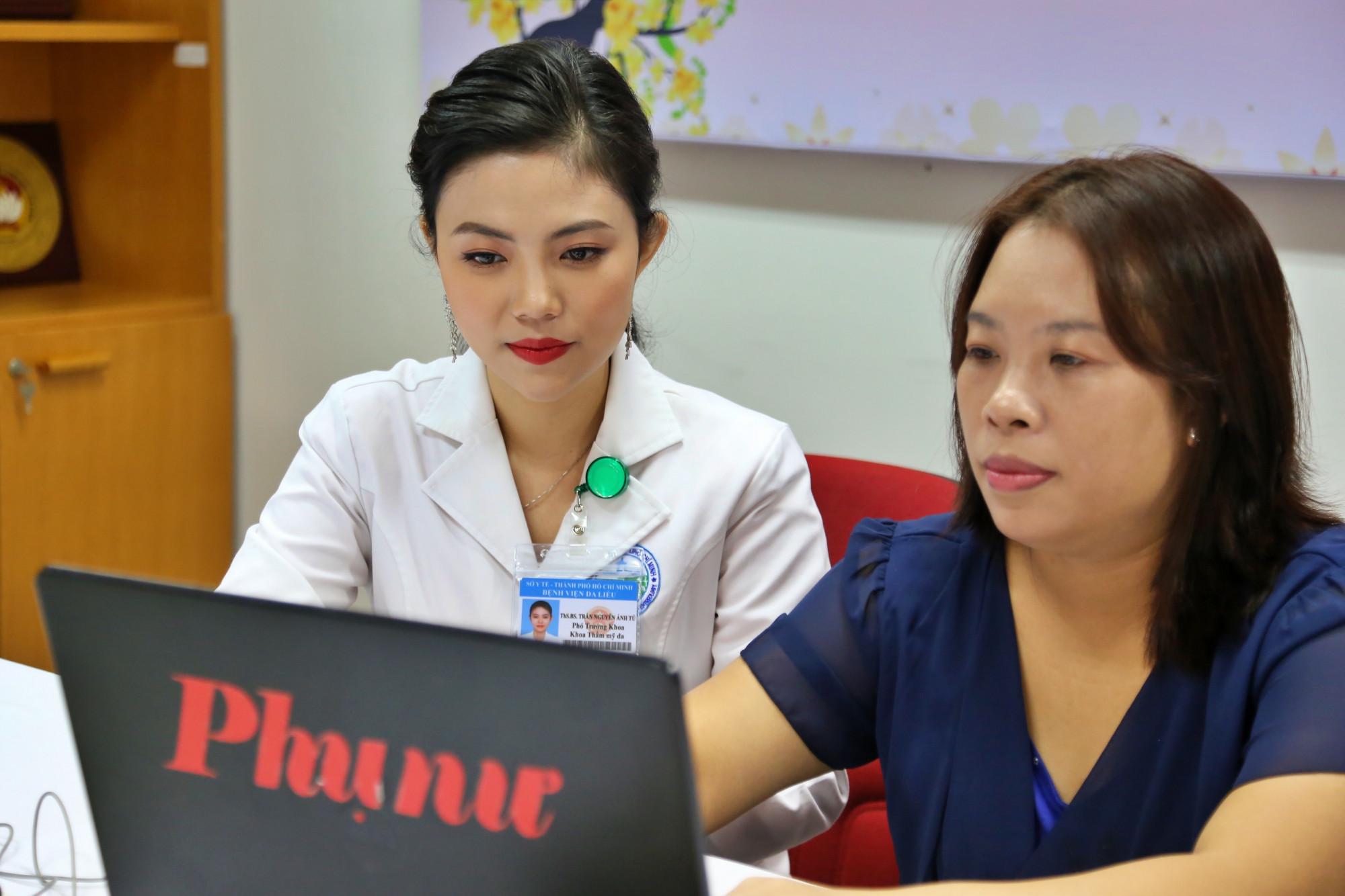thạc sĩ - bác sĩ Trần Nguyên Ánh Tú - Phó trưởng khoa Thẩm mỹ da - Bệnh viện Da Liễu TP.HCM trả lời giao lưu trực tuyến