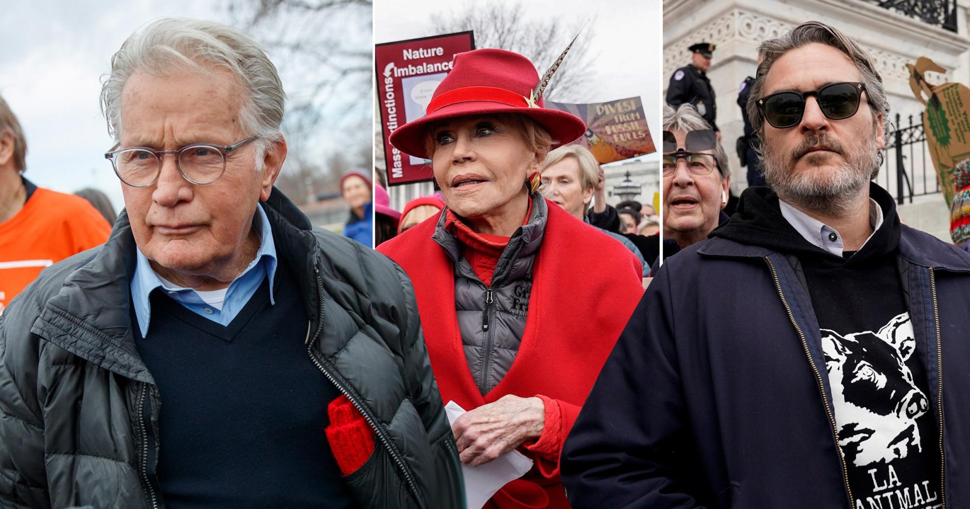 Nhiều người nổi tiếng tham gia cuộc biểu tình do nữ diễn viên Jane Fonda khởi xướng