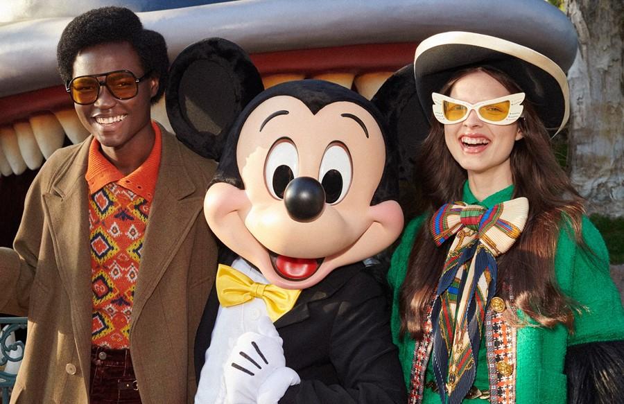 BST mới của Gucci lấy cảm hứng từ thế giới hoạt hình Disney, mà trung tâm là nhân vật chuột Mickey.