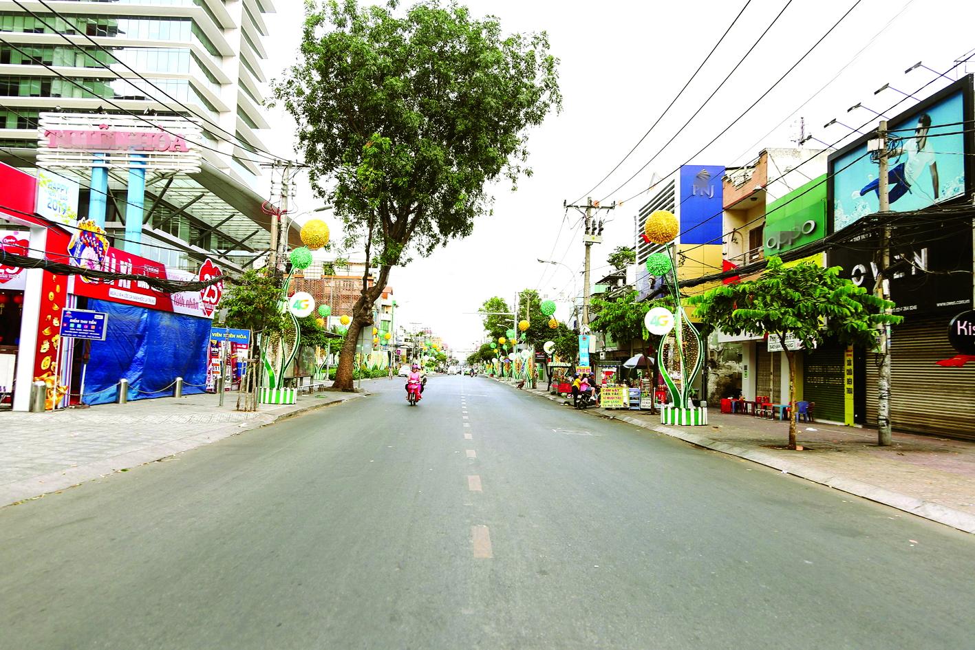 Thành phố Hồ Chí Minh ngày mùng Một tết ẢNH: KEO TRUONG