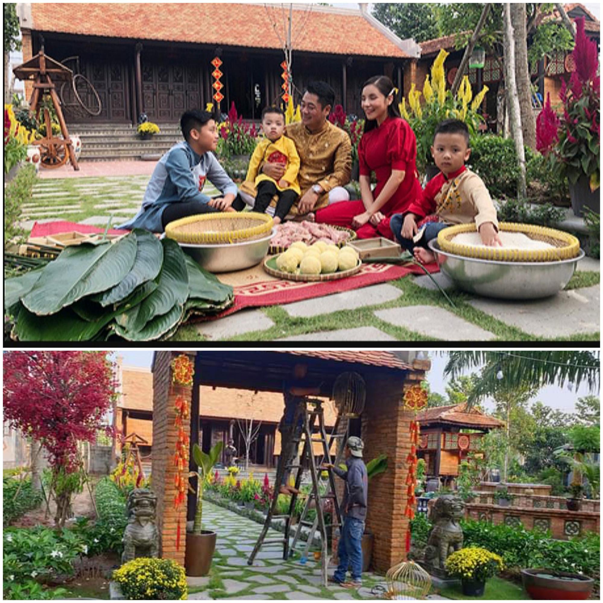 Gia đình Ngô Mai Trang quây quần nấu bánh chưng tại ngôi nhà mới ở Long An. Trước đó, nữ ca sĩ cũng tất bật trang hoàng nhà cửa để có được không gian ưng ý nhất.
