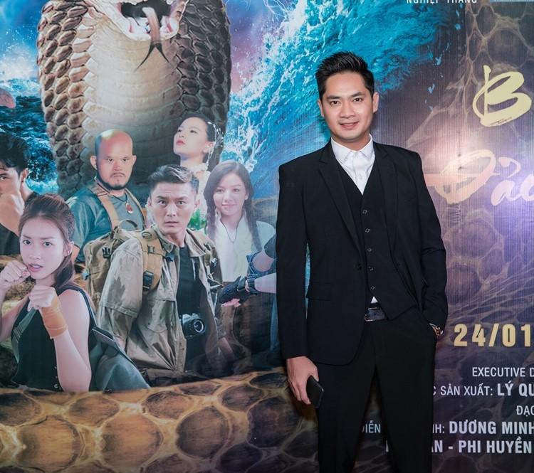 Nam diễn viên Minh Luân lịch lãm, điển trai trên thảm đỏ.