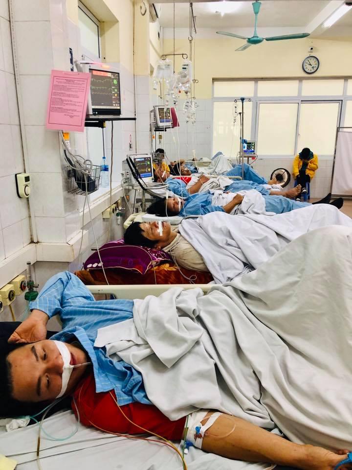 Sau một đêm được các thầy thuốc tận tình cứu chữa, 7 bệnh nhân đã ổn định