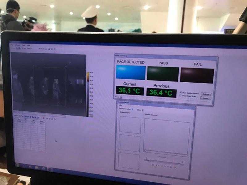 Qua công tác giám sát thân nhiệt hành khách nhập cảnh, máy đo thân nhiệt không phát hiện hành khách nào có nhiệt độ thân nhiệt cao bất thường.