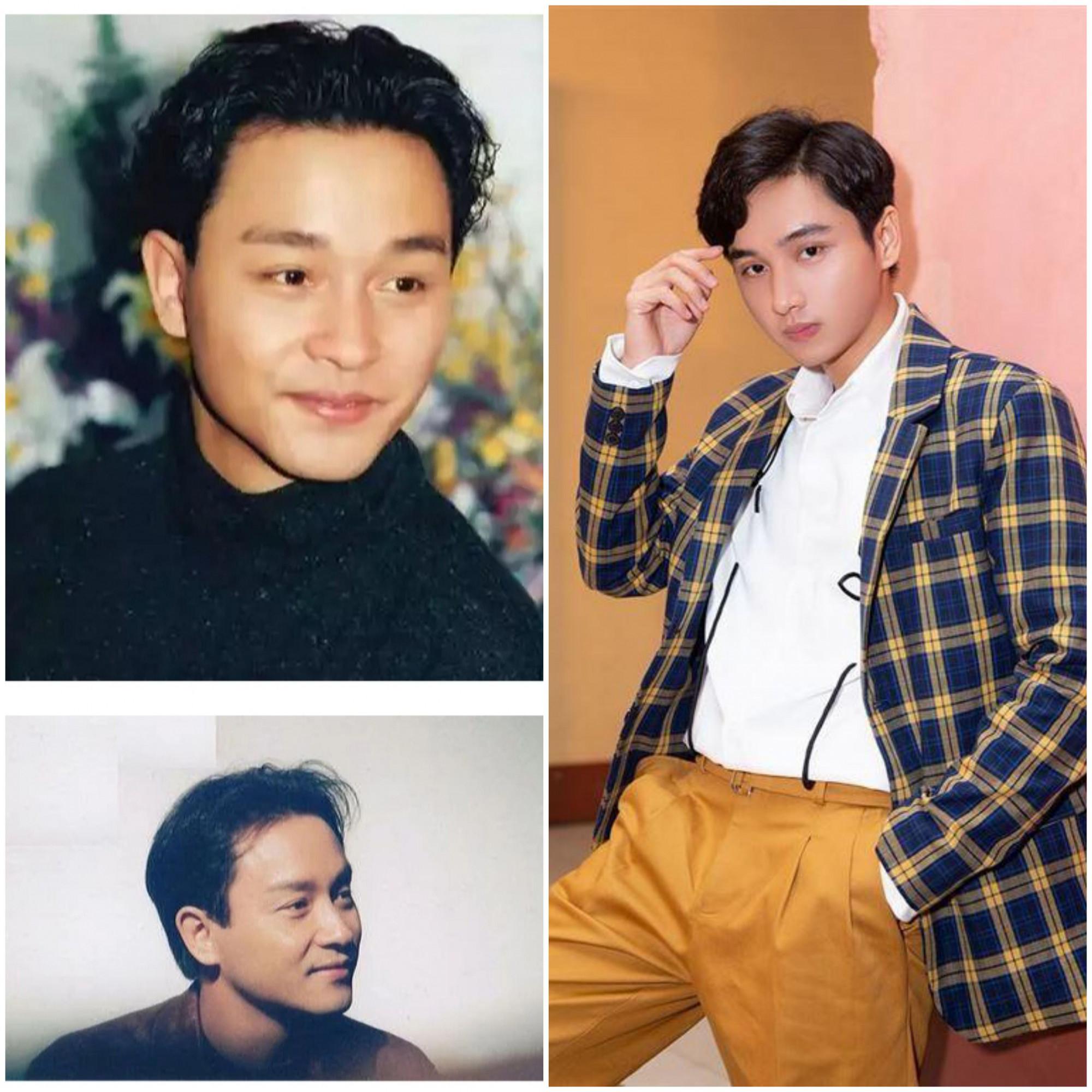 Cố diễn viên nổi tiếng Hong Kong Trương Quốc Vinh và Trịnh Tài được nhận xét gương mặt có nhiều điểm tương đồng.