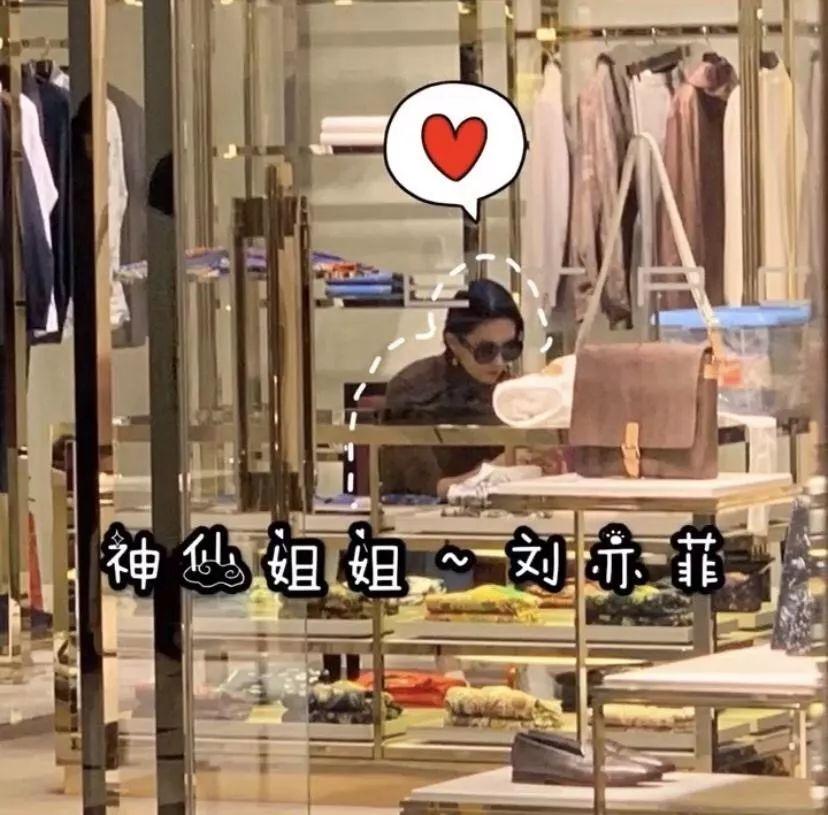 Lưu Diệc Phi đi mua sắm tại trung tâm thương mại mới đây.