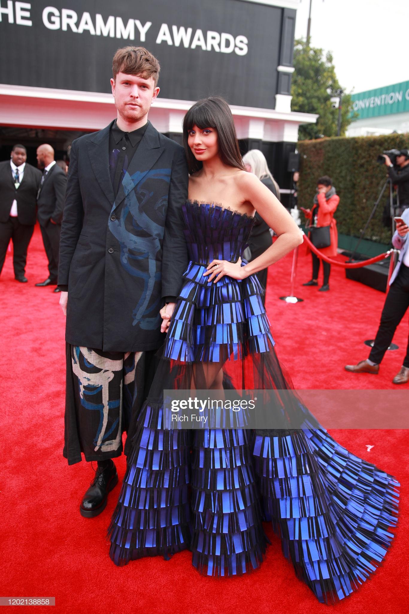 James Blake và Jameela Jamil với trang phục đẹp mắt