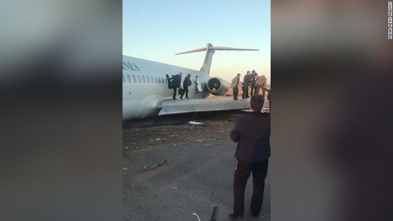 Vụ tai nạn diễn ra vào sáng ngày 27/1 tại sân bay Mahshahr.