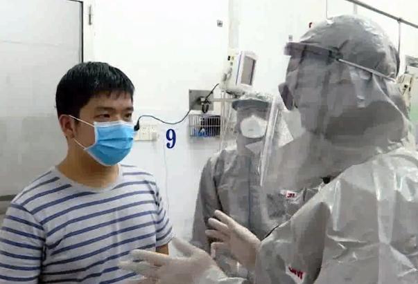 Bệnh nhân Li Zichao tại BV Chợ Rẫy vào ngày 23/1/2020
