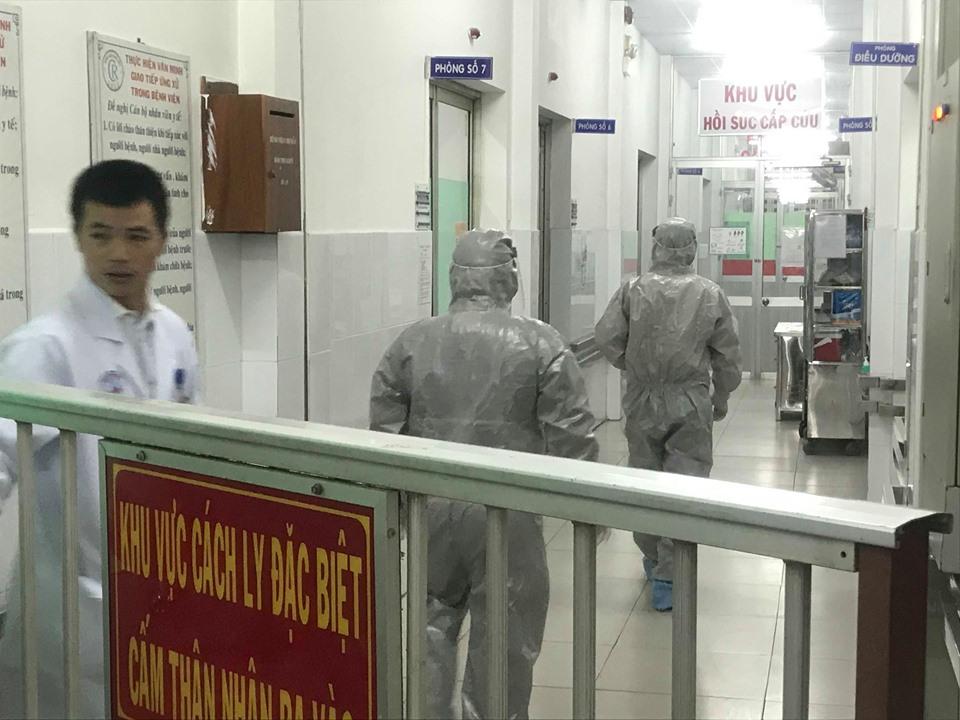 Khu vực cách ly dành cho bệnh truyền nhiễm  tại Khoa Bệnh nhiệt đới, BV Chợ Rẫy