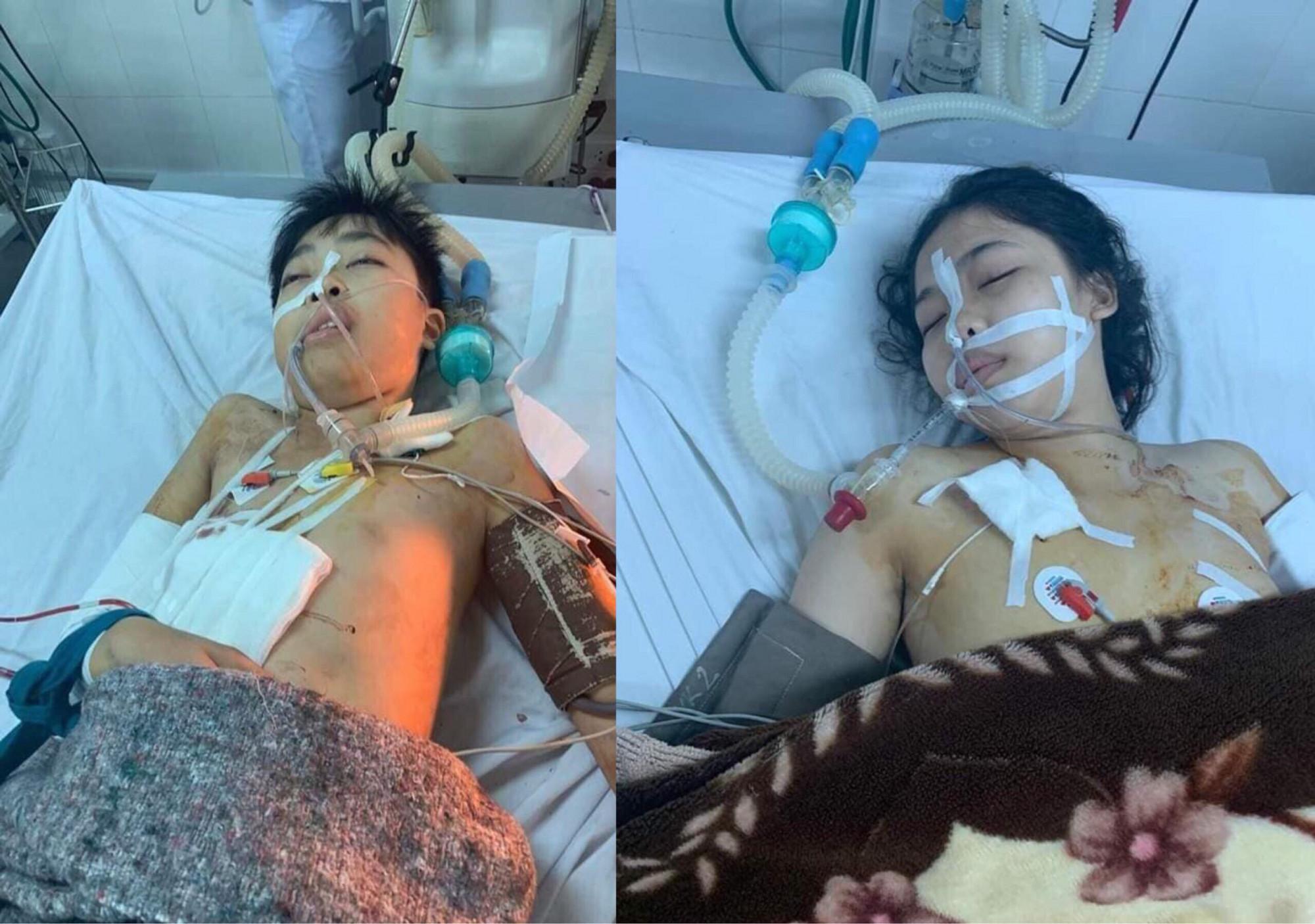 Hình ảnh đau xót trong bệnh viện của 2 cháu bé bị người tình của mẹ bắn. Cả hai đều đang nguy kịch.