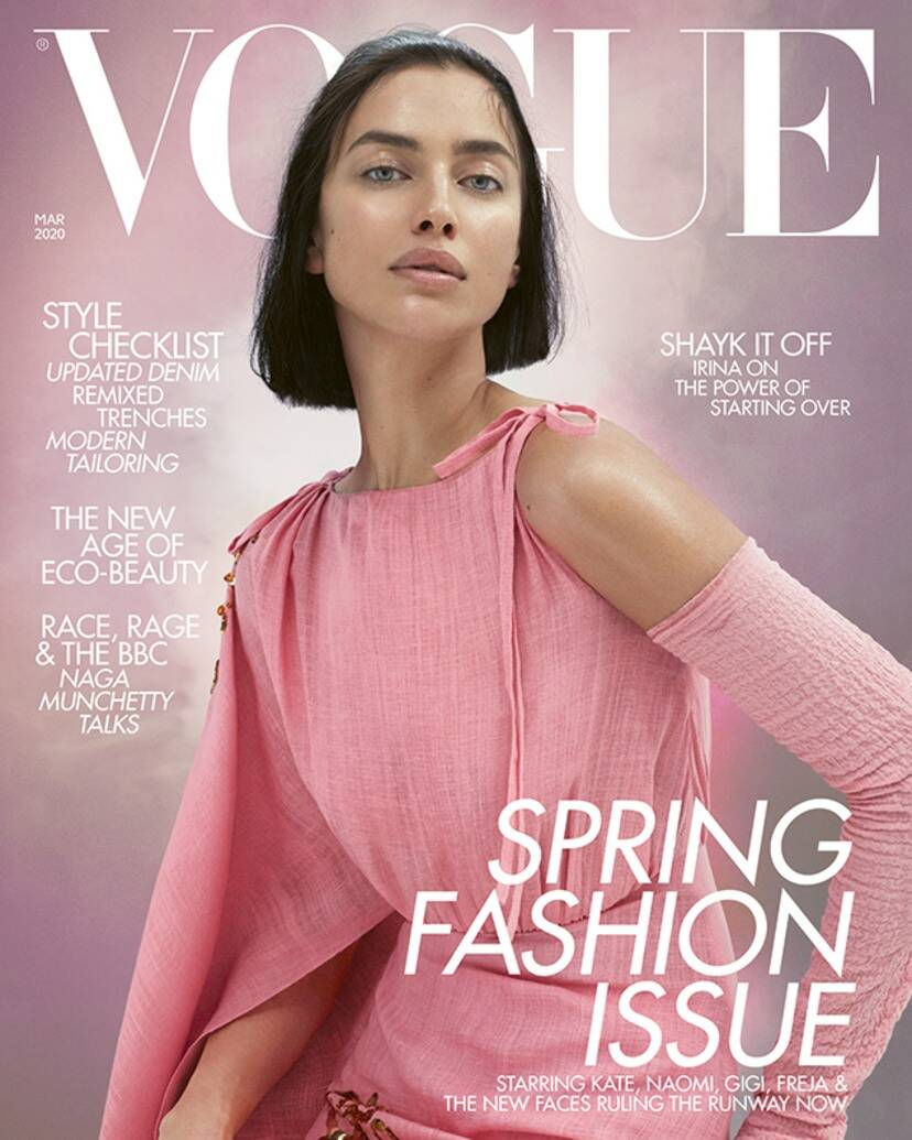 Hình ảnh của Irina Shayk trên bìa tạp chí Vogue