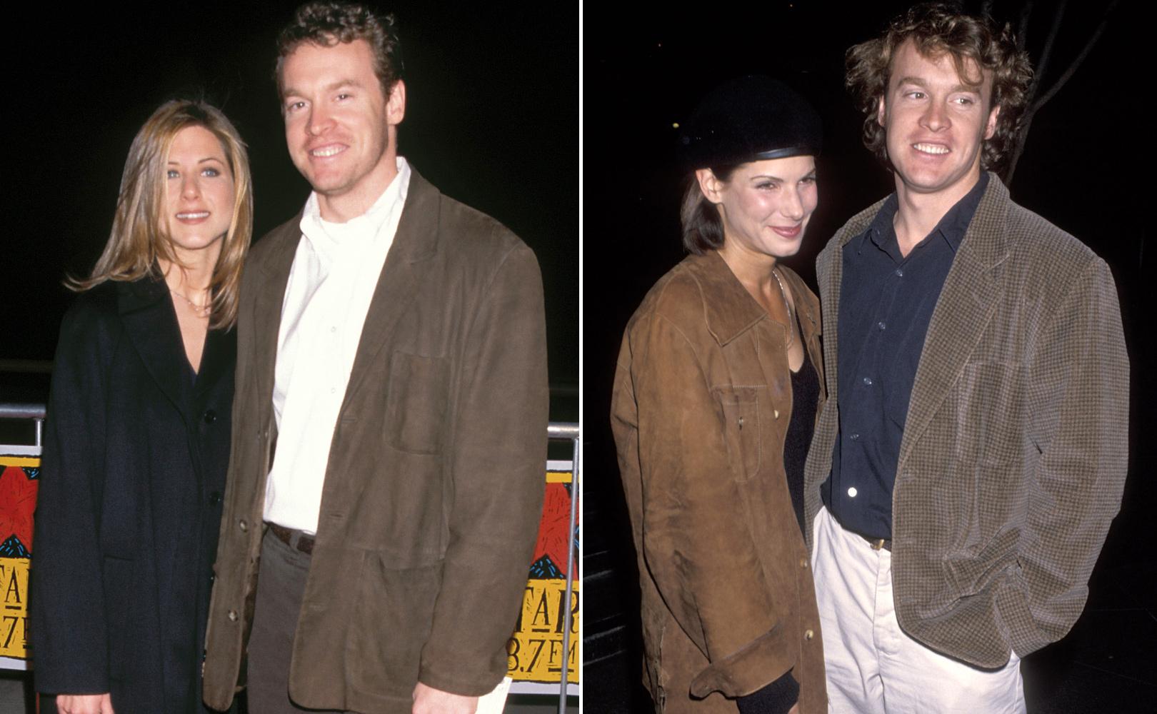 Jennifer Aniston và Sandra Bullock trong thời gian hẹn hò với Tate Donovan.