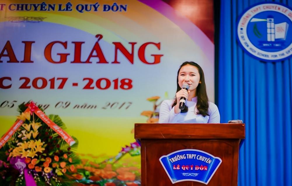 Em Đào Ngọc Minh Khuê đang là học sinh lớp 12 tại Vũng Tàu