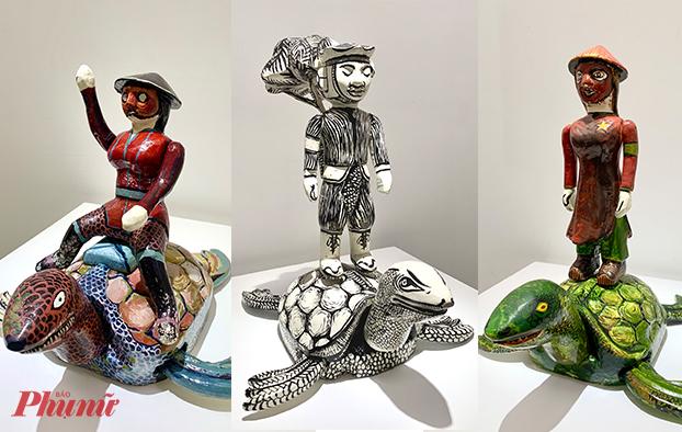 Rùa Việt Nam trong tác phẩm của nghệ sĩ François Andes.