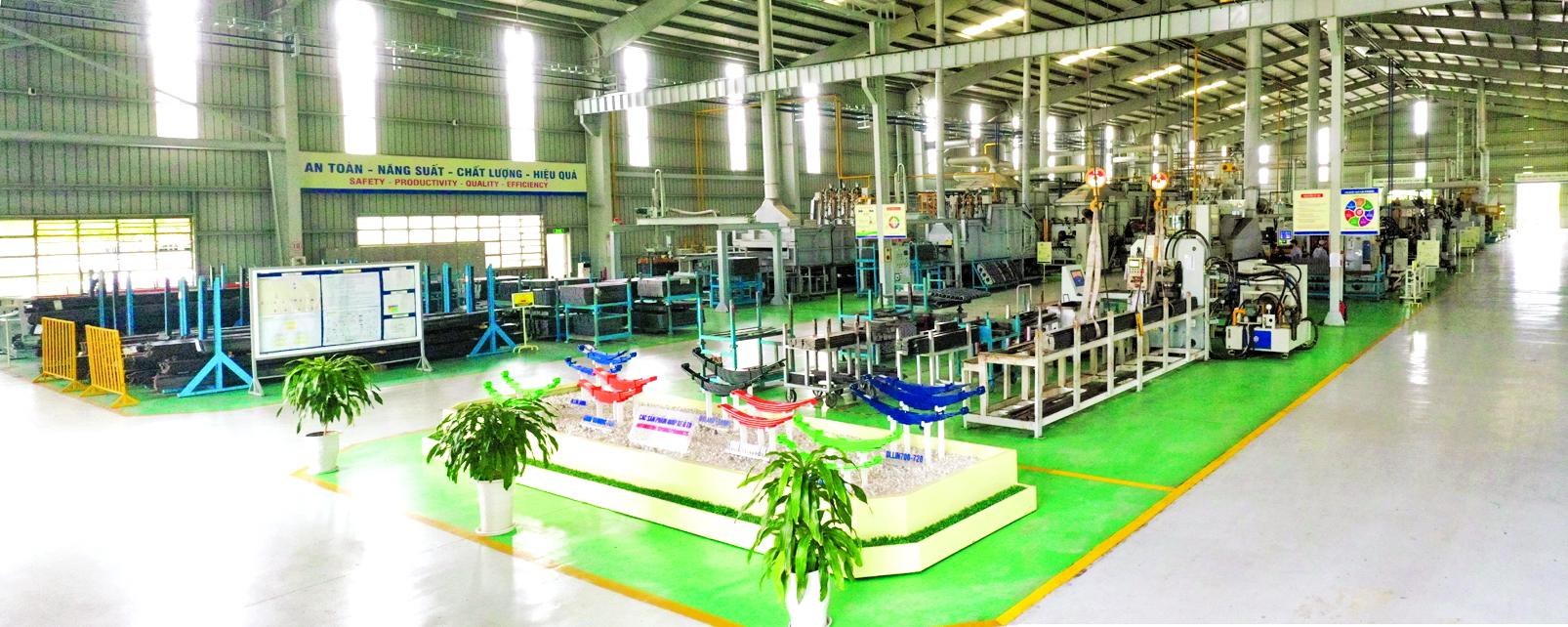 Dây chuyền sản xuất tại nhà máy nhíp