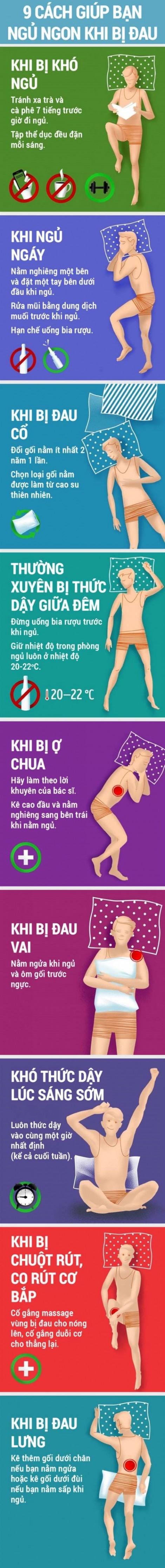 9 phương pháp giúp ngủ ngon khi bị đau