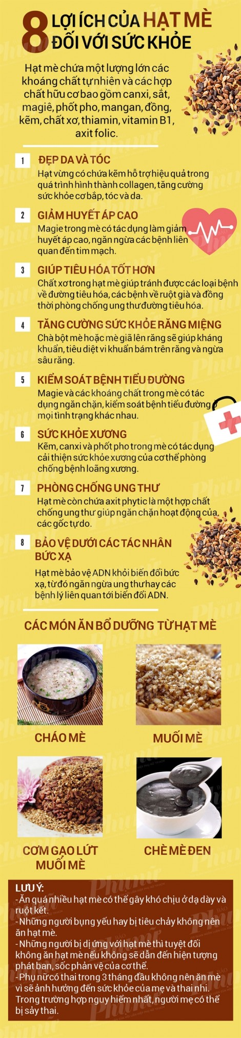 8 lợi ích của hạt mè tốt cho sức khỏe