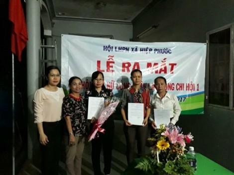 Huyện Nhà Bè: Ra mắt chi hội phụ nữ công nhân lao động