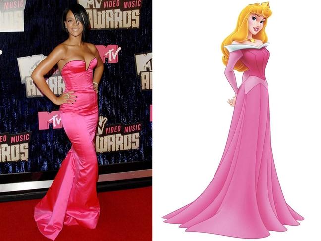 7 bo canh quyen ru cua Rihanna khi hoa than thanh cong chua Disney