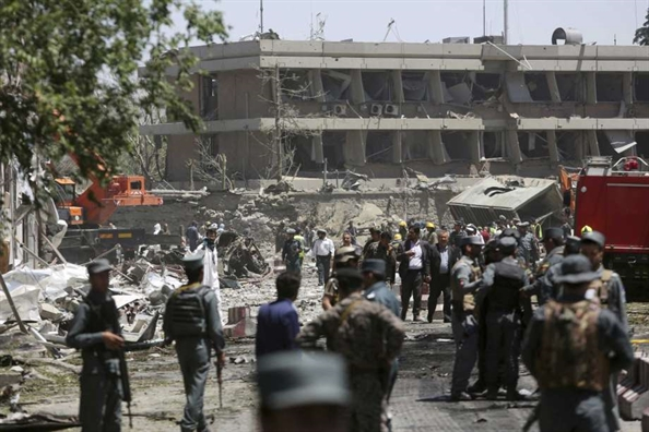 Hien truong vu danh bom kinh hoang o Afghanistan