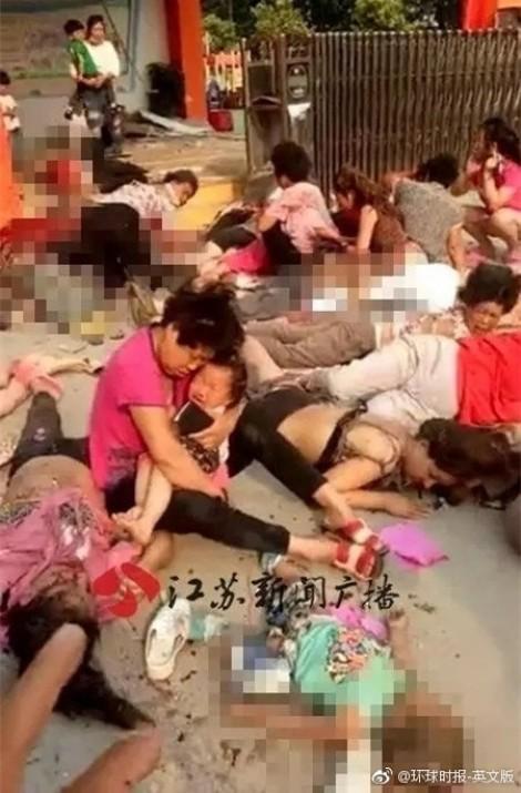 Hiện trường thảm khốc vụ nổ lớn tại nhà trẻ Trung Quốc