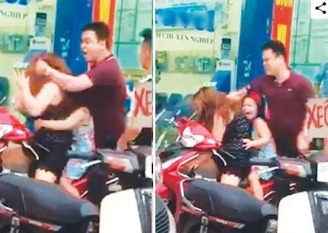Đứa trẻ khóc thét khi cha đánh mẹ