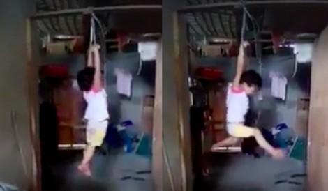Người treo cháu bé 5 tuổi lên trần nhà có thể bị phạt 10 triệu đồng