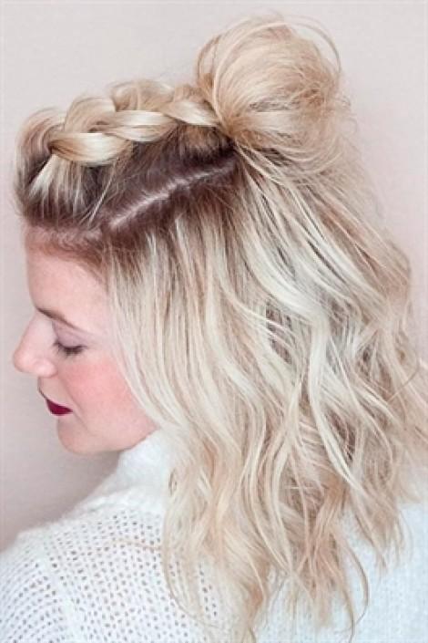 Làm điệu cho tóc ngắn với 5 kiểu buộc nửa đầu vui mắt