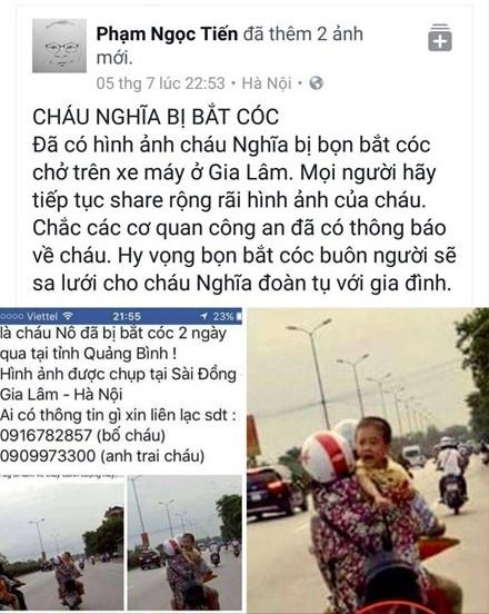 Cong dong mang soi suc tim kiem thong tin be trai 6 tuoi nghi bi bat coc