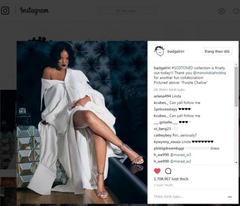 Rihanna diện thiết kế của Công Trí cho chiến dịch quảng cáo của thương hiệu danh tiếng