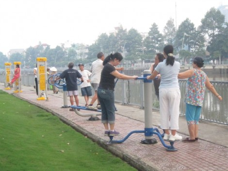 Không gian thể dục cho người Sài Gòn