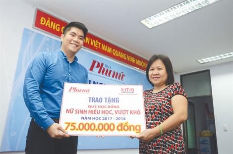 Chương trình học bổng 'Nữ sinh hiếu học, vượt khó': công ty TNHH Kim Cương KITA trao tặng 75 triệu đồng