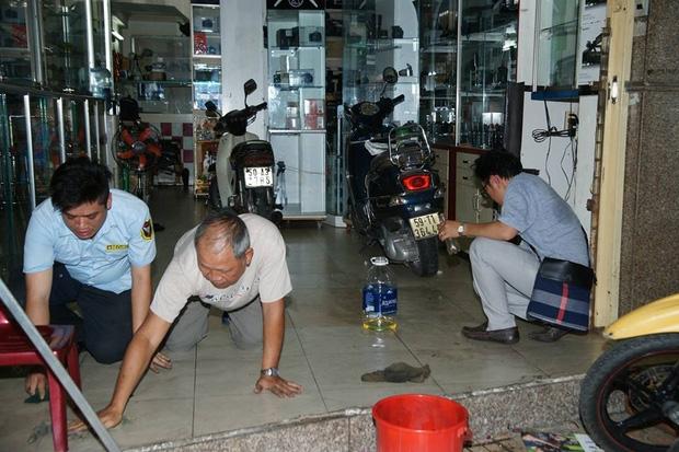 Quan tra sua cua Pham Huong bi tat son ngay ngay khai truong