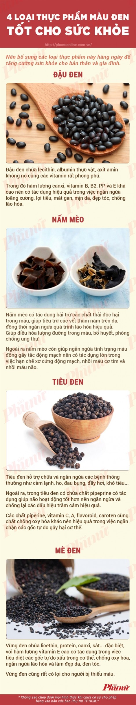 4 thực phẩm màu đen có lợi để chống lão hóa
