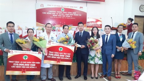 Hơn 1,2 tỷ đồng của hai công ty bất động sản đến với Bệnh viện Nhi Đồng II