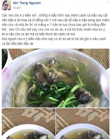 Nấu canh cá rô nguyên con, không mổ, trắng ợt, vợ vụng bị chồng mắng te tua
