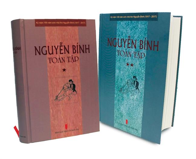 Phat hanh bo sach 'Nguyen Binh toan tap'