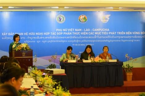Hội Phụ nữ ba nước Việt Nam - Lào - Campuchia cùng hợp tác, phát triển