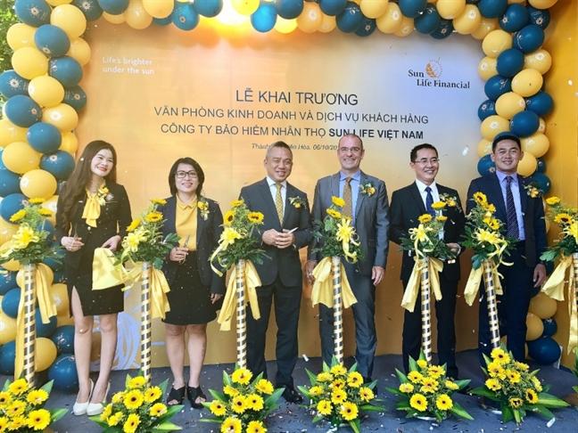 Sun Life Viet Nam khai truong lien tiep 5 Van phong Kinh doanh va Dich vu Khach hang moi