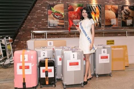 Á hậu Thuỳ Dung mất 3 kiện hành lý để 'vác' trang phục dân tộc dự thi 'Miss International'
