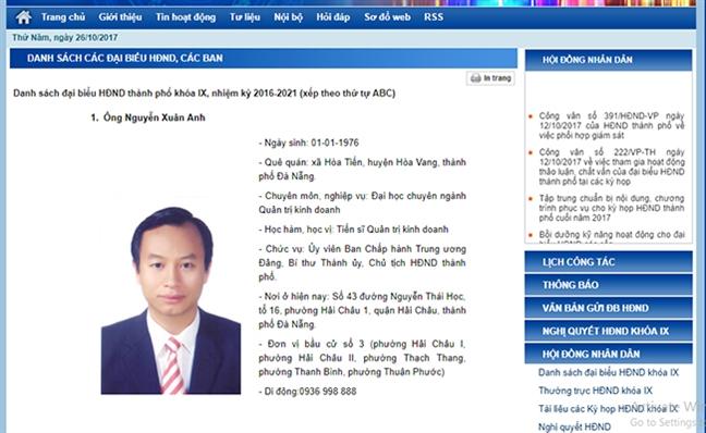 Dang tiep tuc xu ly chuc vu cuoi cung cua ong Nguyen Xuan Anh